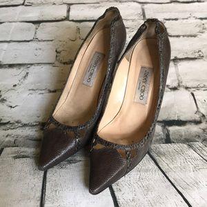 Jimmy Choo Shoes - Jimmy Choo Embossed Snakeskin Leopard Print Heels